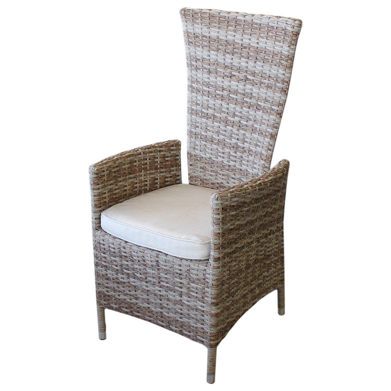 Rattansessel Gartensessel Gartenstuhl Relaxsessel Polyrattan Rückenlehne stufenlos verstellbar Nature inkl. Sitzkissen Beige Terrassenmöbel Balkonmöbel Gartenmöbel Loungemöbel jetzt kaufen