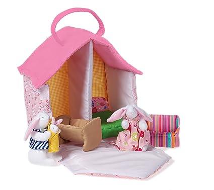La maison de Oskar & Ellen tissu lapin poupée