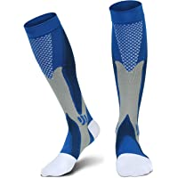 CATLOPE Sports Graduated Compression Socks (Blue)
