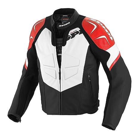 Spidi p 141-021 track blouson de moto en cuir rouge/noir-taille 52