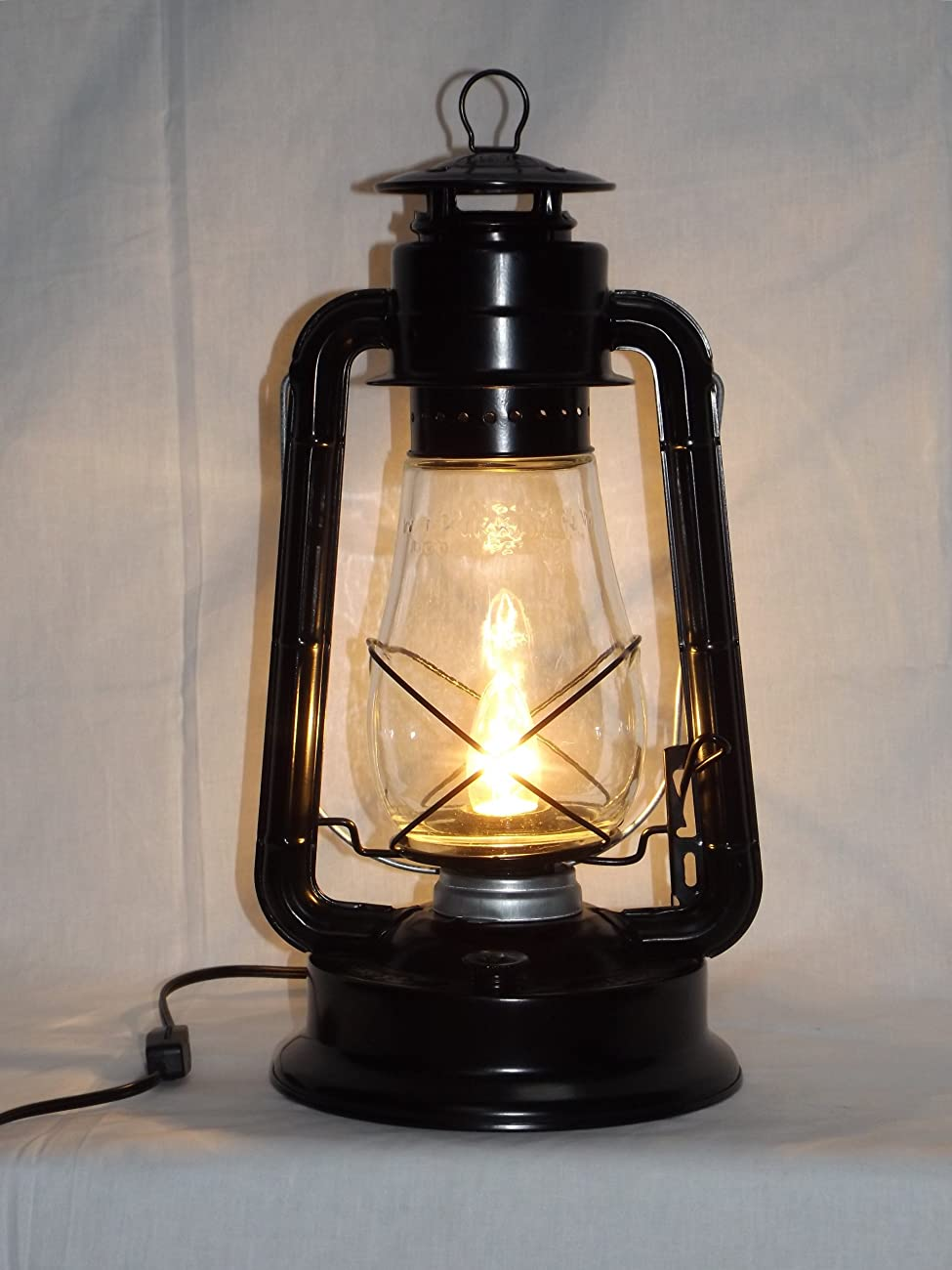 Dietz Blizzard 'Vintage Style' Electric Lantern Table Lamp - Black 0