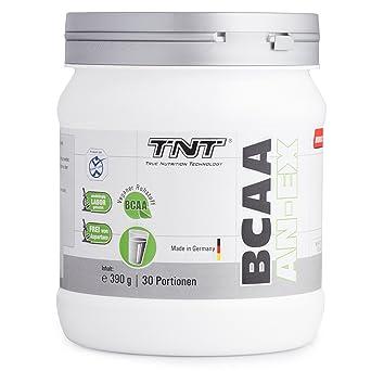 TNT BCAA AN-EX │ Vegane BCAA Aminos 2:1:1 (Leucin, Isoleucin & Valin) │ Aminosäuren Vegan fur Muskelaufbau / 390g Dose BCAA Pulver