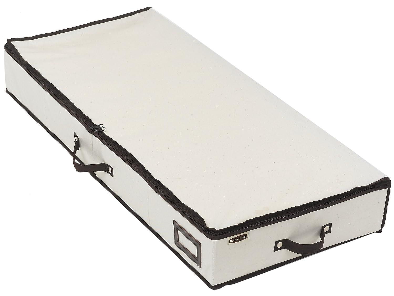 rubbermaid 3 handle low profile chest box 42 under bed storage ceder inserts ebay. Black Bedroom Furniture Sets. Home Design Ideas