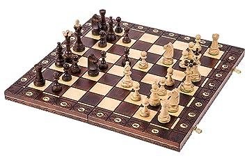Echecs en bois - CONSUL LUX - 48 x 48 cm - Échiquier & Pièces d'échecs