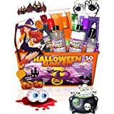Halloween Slime Kit for Girls and Boys - 50 Pieces DIY Slime Making Set Supplies - Slime Glue, Activator, Glowing, Creepy, Scary, and Spooky Add Ins - Gift for Kids to Make Butter, Cloud, Floam Slime (Color: Orange Slime Kit, Tamaño: 50 pieces Halloween Slime Kit)