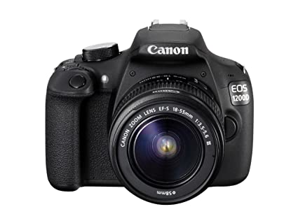 Canon EOS 1200 D, appareil photo reflex numérique avec objectif EF-S 18–55 mm f/3. 5–5.6 III objectif