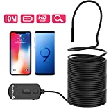 BlueFire Upgraded 1080P 5.5mm Semi-Rigid Inspection Camera, 2 MP HD WiFi Borescope Snake Camera, Zoomable Focus 1800mAh Battery Wireless Endoscope for Android and iOS Smartphone, Tablet (33FT) (Color: WIFI 33FT)
