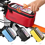 JOY COLORFUL Bicycle Bags, Red, Large (Color: Red, Tamaño: Large)