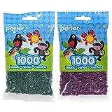 Perler Bead Bag 1000, Bundle of Forest and Eggplant (2 Pack) (Color: Forest & Eggplant)