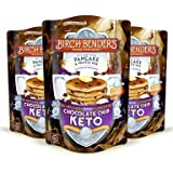 Keto Chocolate Chip Pancake & Waffle Mix by Birch Benders with Sugar-Free Chocolate Chips, Low-Carb, Grain-free, Gluten-free, Made with Almond, Coconut & Cassava Flour, 3 Pack (10oz each) (Tamaño: 3 Pack)
