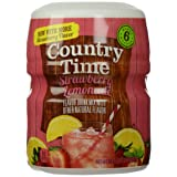 Country Time Flavored Drink Mix, Strawberry Lemonade, 18 Ounce Container