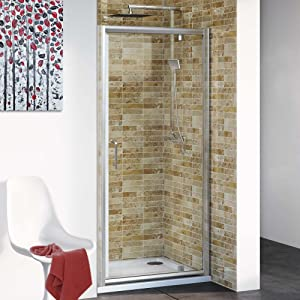 760 mm Modern Pivot Hinge Glass Cubicle Door Bathroom Alcove Shower Enclosure  iBath       reviews and more information