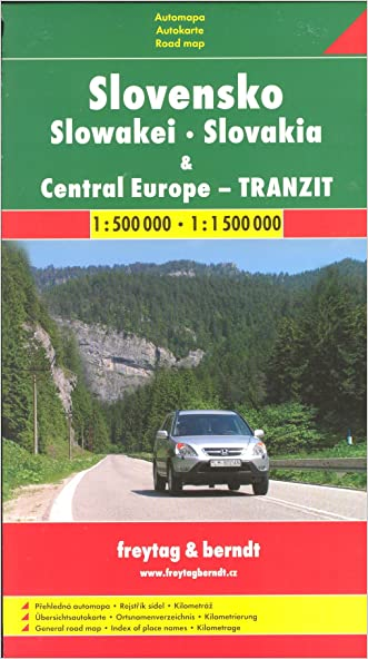 Slovakia 1:500,000 & Central Europe 1:1,500,000 FREYTAG, 2012 edition