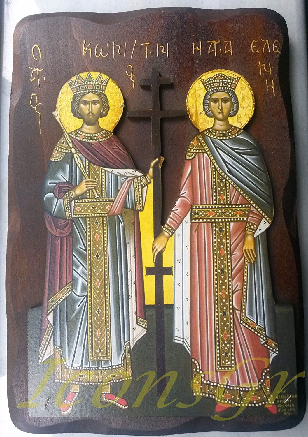 Wood Icon of Saint Constantine & Helen