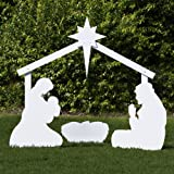 Outdoor Nativity Store Large Silhouette Outdoor Nativity Set - Holy Family Scene