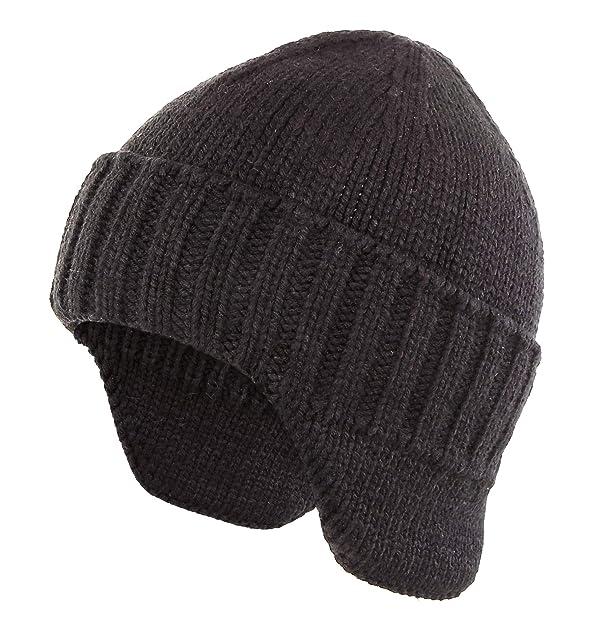 Home Prefer Mens Winter Hat Knit Earflap Stocking Caps W Ears Warm #389 NAVY BLU