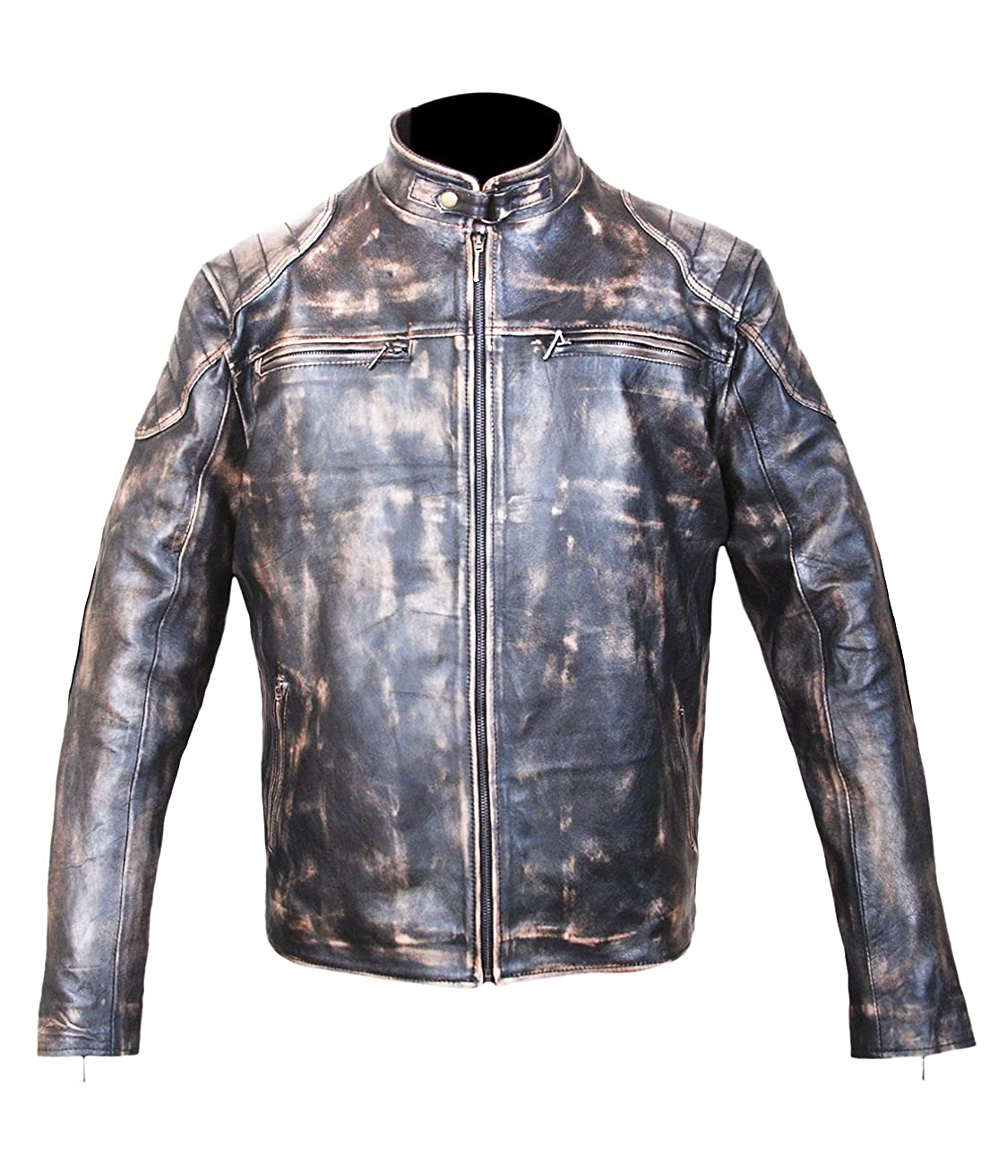 Antique Black Men's Vintage Distressed Retro Motorcycle Biker Leather jacket - TOP SELLER 0