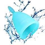 Menstrual Cup - Designed for Your Active Lifestyle, Personal Comfort & Menstrual Protection - Best FDA Approved Disposable Period Cup –– Ideal Pre or Post Childbirth – (One Size)