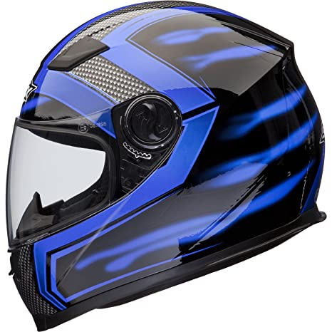 Shox Sniper Skar Casque Moto Intégral S Bleu Securité