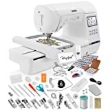 Brother SE1900 Sewing Embroidery Machine + Grand Slam Package Includes 64 Embroidery Threads + Prewound Bobbins + Cap Hoop + Sock Hoop + Stabilizer + 15,000 Designs + Scissors (Color: Brother Se1900 W/ Grand Slam, Tamaño: Brother SE1900 w/ Grand Slam)