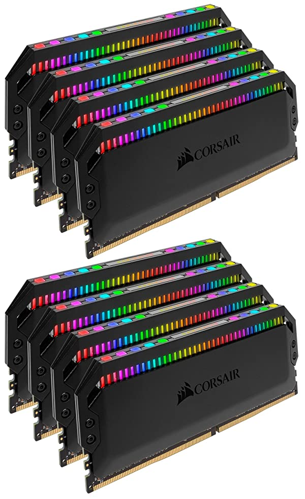 Corsair Dominator Platinum RGB 64GB (8x8GB) DDR4 3600 (PC4-28800) C18 1.35V Desktop Memory (Color: RGB, Tamaño: 64GB (8x8GB))