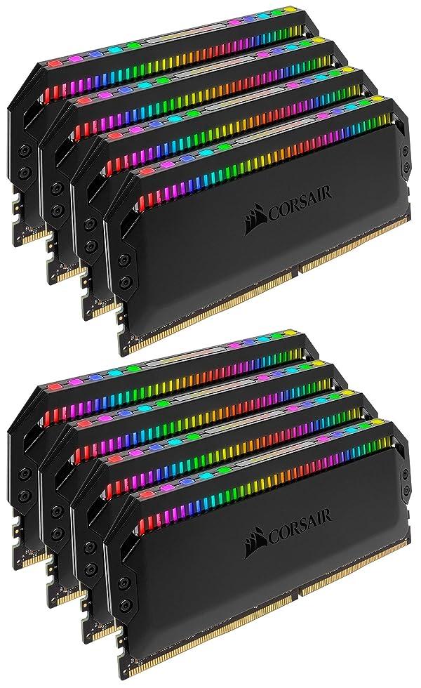 Corsair Dominator Platinum RGB 64GB (8x8GB) DDR4 3600 (PC4-28800) C18 1.35V Desktop Memory (Color: RGB, Tamaño: 64GB (8x8GB))