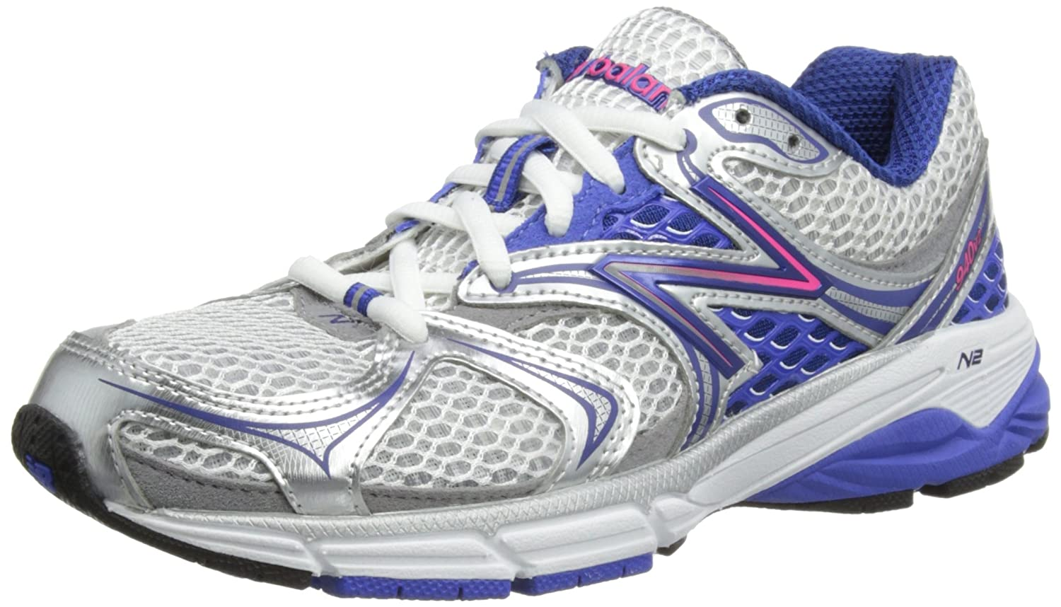 New Balance Women's W940V2 Running Shoe,White/Blue,8.5 2E US