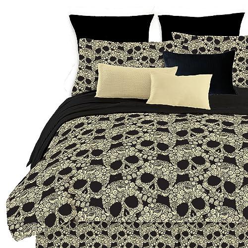 Street Revival Flower Skull Comforter Set