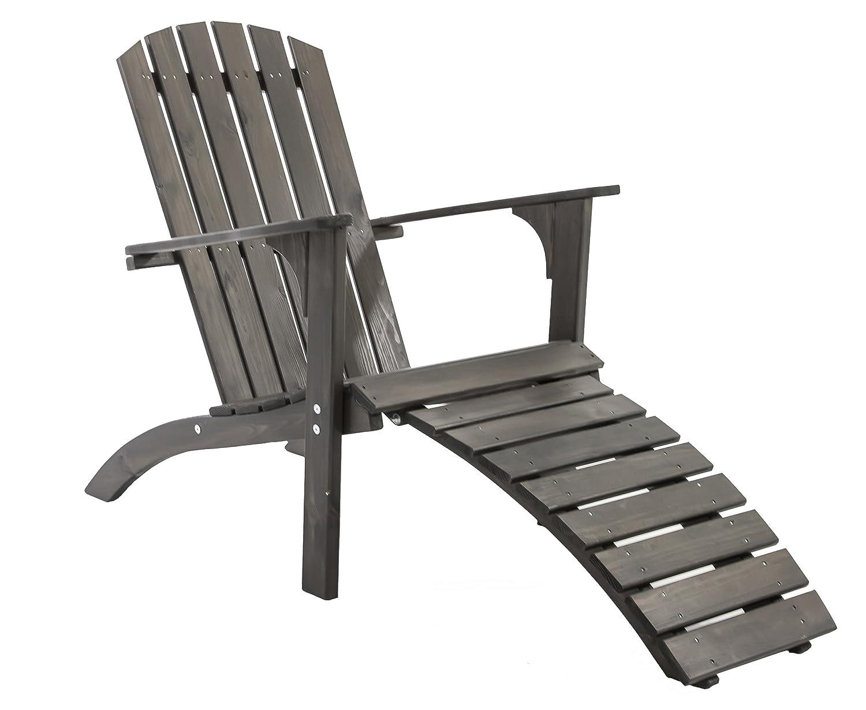 GARDENho.me Nordischer ADIRONDACK Chair Falun Massivholz, Deckchair Taupe SSV-Angebot günstig kaufen