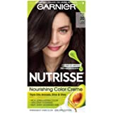 Garnier Nutrisse Nourishing Hair Color Creme, 20 Soft Black (Black Tea)  (Packaging May Vary) (Color: 20 Soft Black (Black Tea), Tamaño: 1 Count)