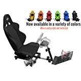 Openwheeler Racing Wheel Stand Cockpit Black on Black | For Logitech G29 | G920 and Logitech G27 | G25 | Thrustmaster | Fanatec Wheels | Racing wheel & controllers NOT included
