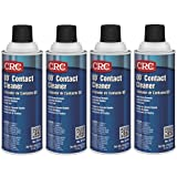 CRC QD Plastic Safe Liquid Contact Cleaner, 11 oz Aerosol Can, Clear (Clear (4-PACK)) (Color: Clear (4-PACK))