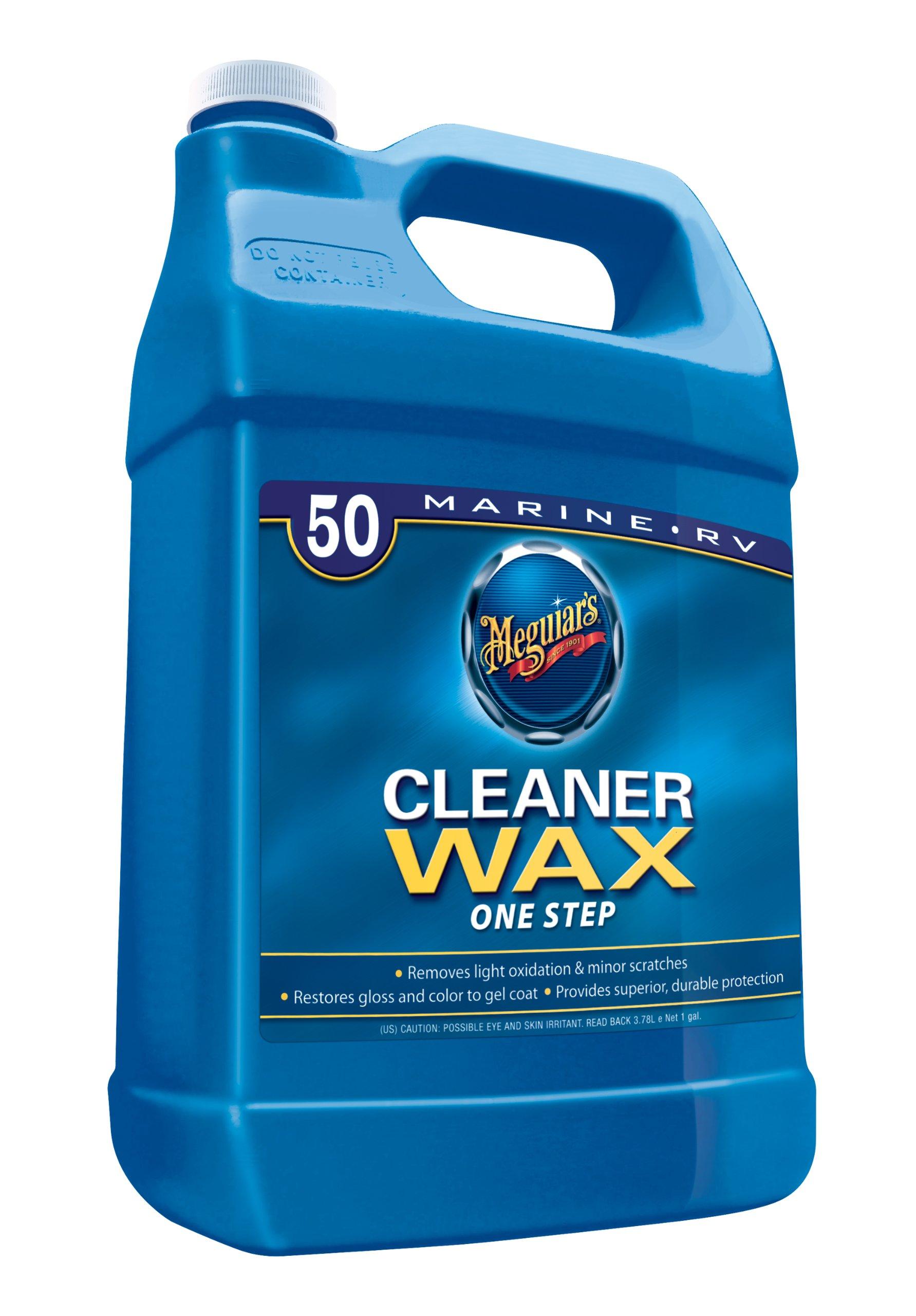 Meguiar S M5001 Marine Rv One Step Cleaner Wax 1 Gallon
