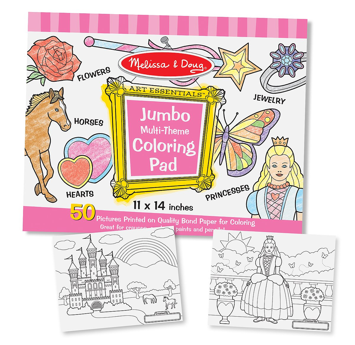 Melissa and Doug Jumbo Coloring Pad- Pink