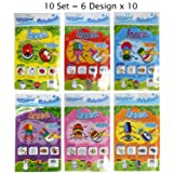 Gift Expressions 10 Sets of 6 Designs ( 60 Pcs) Colorloon Form Cray Paint Colors On The Balloon Kidscrafts School Art Craft (Insect, 10 Sets) (Color: Insect, Tamaño: 10 Sets)