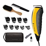 Remington HC5855 Virtually Indestructible Haircut Kit & Beard Trimmer, Hair Clippers for Men (15 pieces) (Color: Yellow)