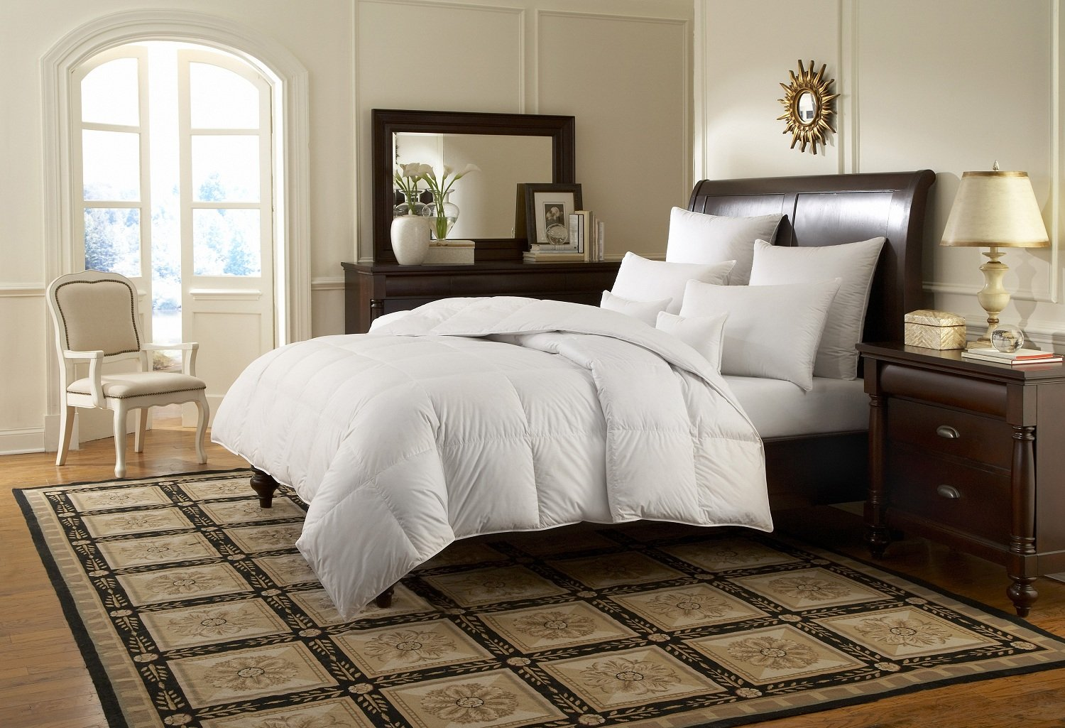 Downright Logana 920+ Canadian White Goose Down All Year Weight Comforter enzo logana w14121447907