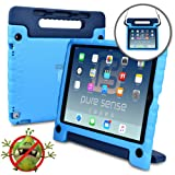 Samsung Galaxy Tab A 7.0 case for kids - [WORLD'S FIRST ANTI MICROBIAL KIDS CASE] PURE SENSE BUDDY Child Proof Shock Protective Cover for Boys | Shoulder Strap, Handle, Stand, Screen Protector (Blue)