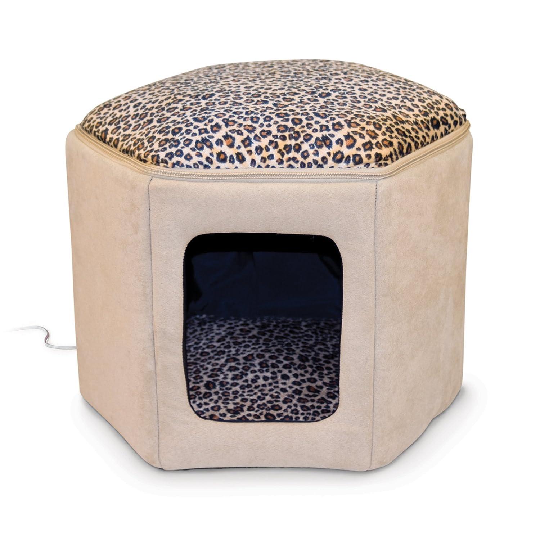 K&H Manufacturing Kitty Sleephouse Tan/Leopard