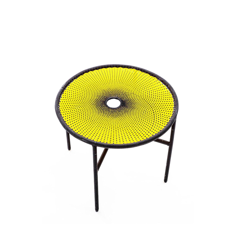 Banjooli Beistelltisch gelb/schwarz