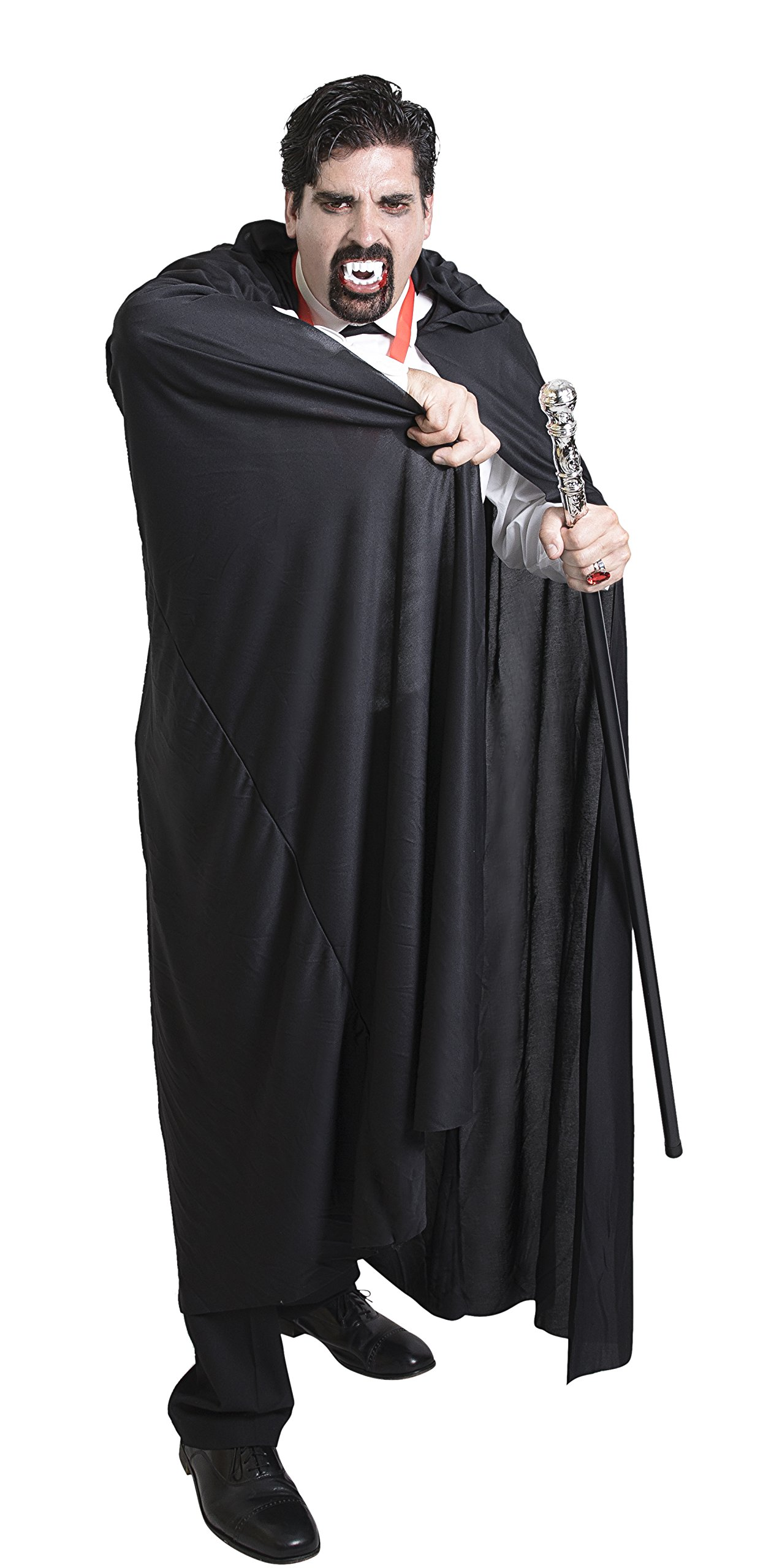 Long Black Hooded Halloween Cape