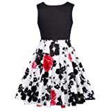 Girls 1950s Style Girls Print Pin Up Rockabilly Swing Dresses 9-10yrs CL600-3 (Color: Cl600-3, Tamaño: 9-10 Years)