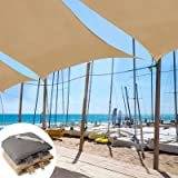 casa pura Sun Shade Sail | Shade Cloth, Protect Against UV | Sun Shades for Patio and Garden | Rectangle | Multiple Sizes | Beige - 8' x 12'