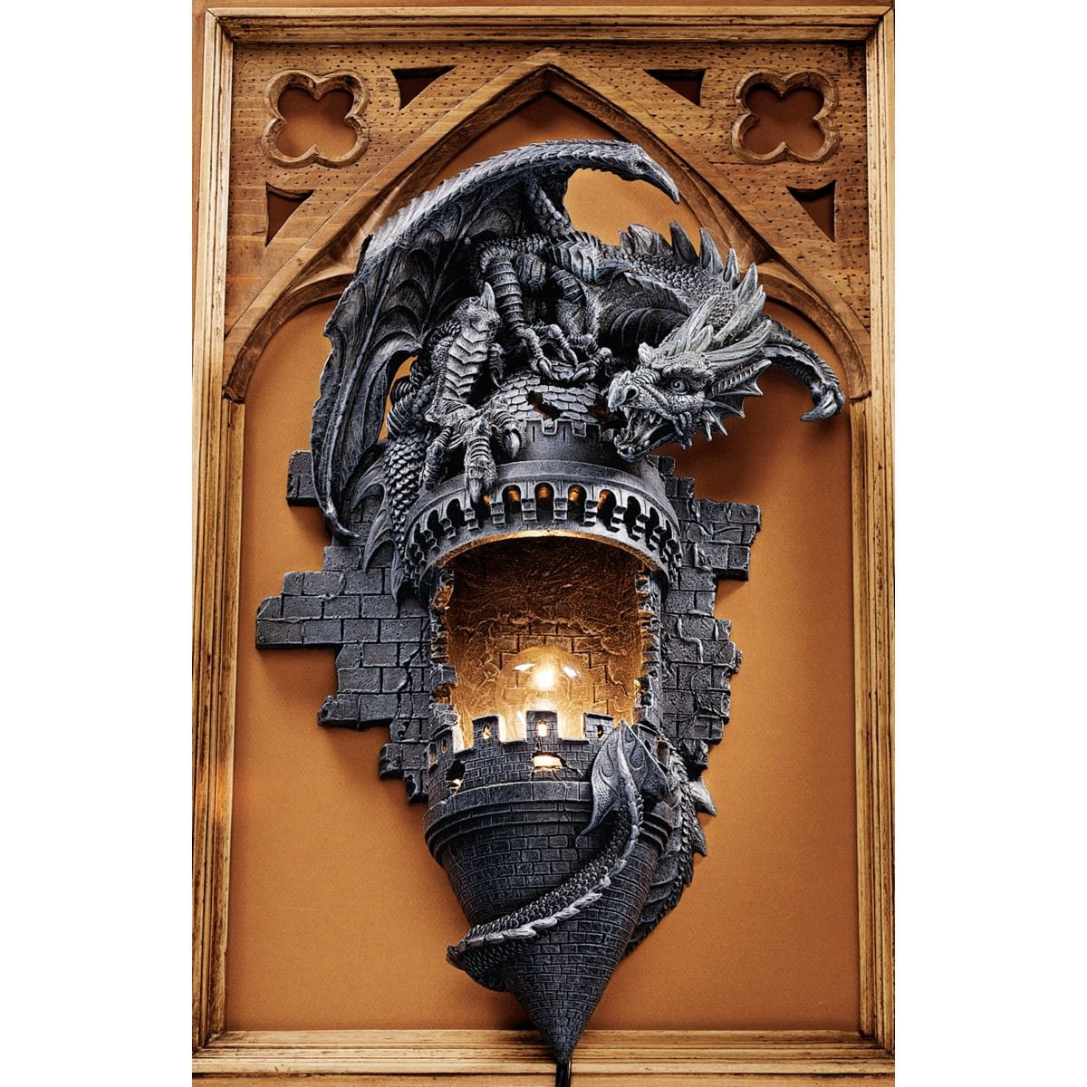 Amazing dragon lamps and candle holders for home - Dragon decorations for a home ...
