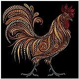 BBTO 5D Diamond Painting Full DIY Animals Cock Chicken Painting Kit Rhinestone Painting Supplies for Art Craft Home Decoration