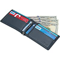 Kinzd Mens Slim Bifold Leather RFID Blocking Wallet