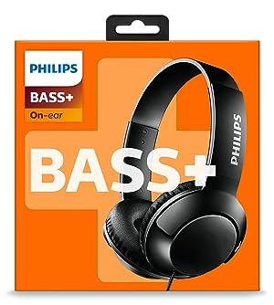 Philips BASS+ On Ear Headphones - Black (SHL3070BK/27) (Color: Black, Tamaño: One Size)