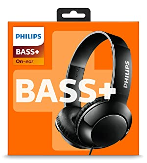 Philips BASS+ On Ear Headphones - Black (SHL3070BK/27) (Color: Black, Tamaño: One Size)