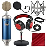 Blue Microphones Bluebird SL Large-Diaphragm Condenser Microphone with Closed-Back Headphones, XLR Cable, and Deluxe Bundle (Tamaño: Deluxe)