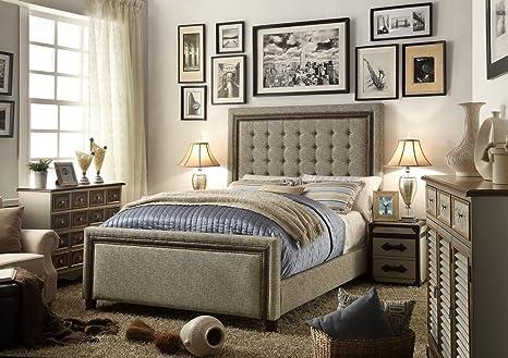 Millbury Home Hidalgo Cafe Tufted Upholstery Bed
